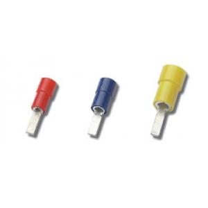 2,8x9mm pistik 0,25...1,5mm² juhtmele, punane 100tk/pk
