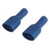 Faston pesa 6,35x0,81mm 1,5...2,5mm2 juhtmele, sinine isoleeritud 100tk/pk