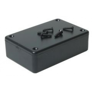 Plastkarp 85x56x21mm, must, IP54 ABS