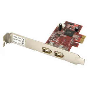 PCIe kaart, FireWire Kaart 1394a, 2 porti