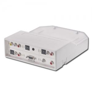 Audio/ Video moodulite paigalduskarp, pinnapealne, valge