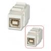 Keystone moodul: USB B (F) - (F), valge