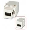 Keystone moodul: FireWire 400 6 pin (F) - (F), valge