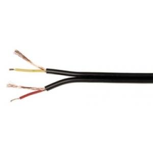 Mikrofonikaabel 2x0,14mm² eraldi spiraalvarje, must