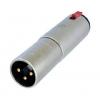 Üleminek 3XLR pistik - 6,3mm (stereo) pesa