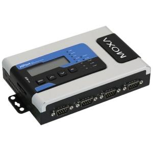 RS-232/422/485 secure terminal server, 4 porti, lisamooduli võimalus, toiteplokk kaasas