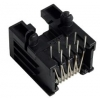 RJ45 8-pin socket PCB, low profile, AMP