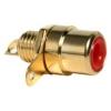 RCA pesa paneelile, punane, metall, kullatud