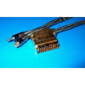 SCART pistik - MD4M + 3.5mm stereo pistik 1.5m