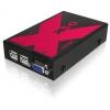 KVMi pikendaja (VGA+USB) kuni 50m läbi CATx (saatja + vastuvõtja)