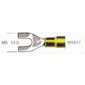 Kahvel M5 4,0...6mm² juhtmele,  kollane 13,5mm