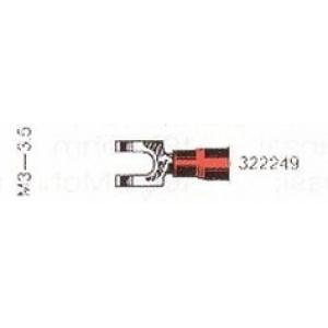 Kahvel M3,5 0,30...1,40mm² juhtmele, punane (äärikuga)