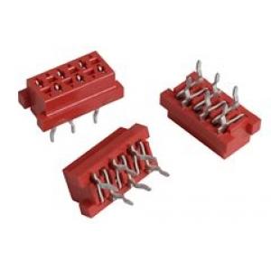 Micro-Match 6-ne pistik PCB, otse
