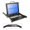 """LCD KVM Terminal 17"""", DE asetusega klaviatuur"""