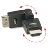 Adapter HDMI (M) - (F), 360°