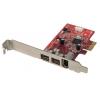 FireWire 800 Kaart, 3 porti (2 x FW 800, 1 x FW 400), PCIe