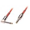 6.3mm - 6.3mm (nurgaga) kaabel 0.5m, punane