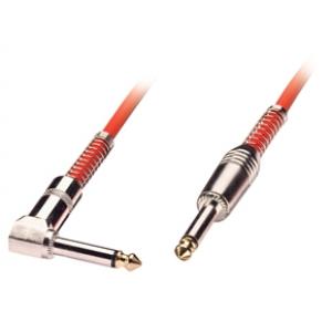 6.3mm - 6.3mm (nurgaga) kaabel 2.0m, punane