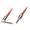 6.3mm - 6.3mm (nurgaga) kaabel 6.0m, punane