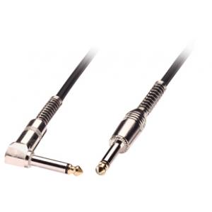 6.3mm - 6.3mm (nurgaga) kaabel 2.0m, must