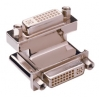 Adapter DVI-I (F) - DVI-I (F), 90° nurgaga