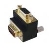 Adapter VGA (M) - (F), 90° nurgaga üles
