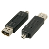FireWire 4 pin (M)/ 6 pin (F), Mini