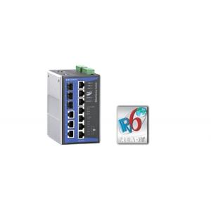 Switch: 3 x 10/100BaseT(X), 4 x 10/100BaseT(X) PoE, 3 x 10/100/1000BaseT(X) või 100/1000BaseSFP, 0 kuni 60°C