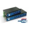 Tööstuslik USB 2.0 hub, 7 porti, 15 KV ESD Level 4 kaitse, 2 x 12 - 40 VDC toide