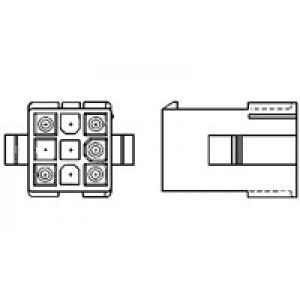Mini Mate-N-Lok pesa 9-kont kaablile ja paneelile 4,14mm
