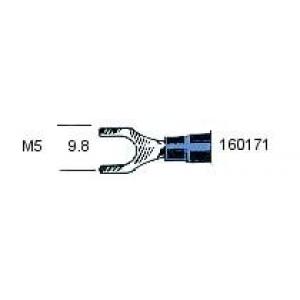 Kahvel M5 1,25..2,0mm² juhtmele, sinine