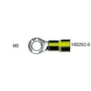 Rõngas M5 4,0...6,0mm² juhtmele, kollane