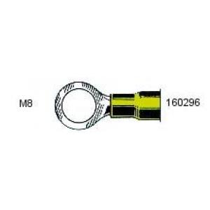 Rõngas M8 4,0...6,0mm² juhtmele, kollane