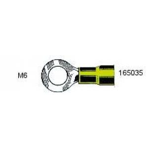 Rõngas M6 4,0...6,0mm² juhtmele, kollane