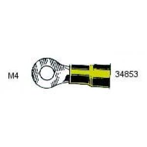 Rõngas M4 4,0...6,0mm² juhtmele, kollane