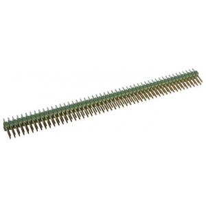 AMPMODU II 2x50 M PCB otse riba Au, 2,54mm, messing, riviliide