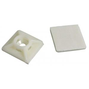 Kaablifiksaator kleebisega, 19 x 19mm, valge, 3,6mm, kahesuunaline, 100tk/pk