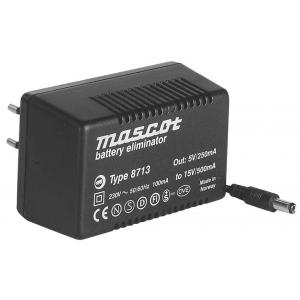 Toiteplokk plug-in 5...15VDC 7,5W stab., sisend 230VAC