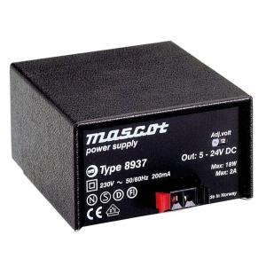 Toiteplokk desktop 5..24VDC 18W sis. 230VAC stab. SNAP-con
