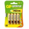Patarei AA 1,5V Alkaline Ultra GP / 4tk pakis