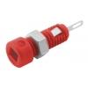 Banaanpesa 2mm 60VDC 6A, punane, d=5mm