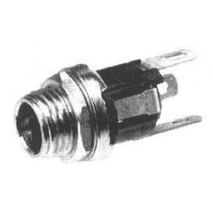 DC pesa 2,5x5,5mm paneelile, ümar L=21mm