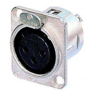 XLR 3 pesa paneelile, läikiv  NC3FD-L-1