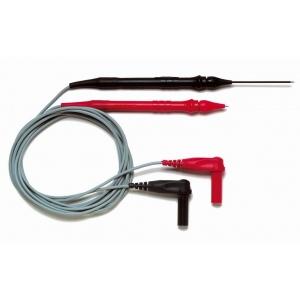Testrijuhtmed 1mm regul. nõelotsikutega, 600V, 1,2m, punane/must