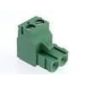 Terminal block R5.08mm, 2-ne, nurgaga 0.05-3.00mm juhtmele