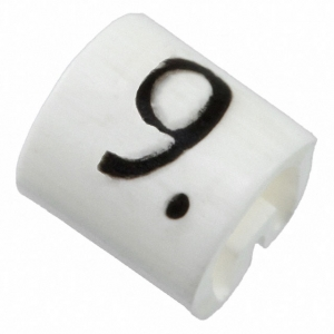 Kaablimärgis ´´9´´ valge, 1,5-2,0mm, kaablile...
