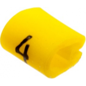 Kaablimärgis ´´4´´ kollane, 2,0-3,2mm, kaablile / 1000tk pakis