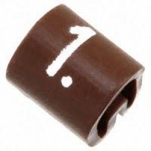 Kaablimärgis ´´1´´ pruun, 2,9-4,7mm, kaablile / 1000tk pakis