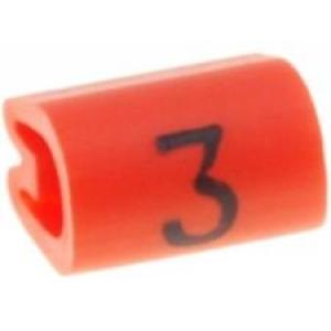 Kaablimärgis ´´3´´ oranž, 2,9-4,7mm, kaablile / 1000tk pakis