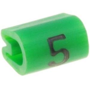 Kaablimärgis ´´5´´ roheline, 2,9-4,7mm, kaablile / 1000tk pakis